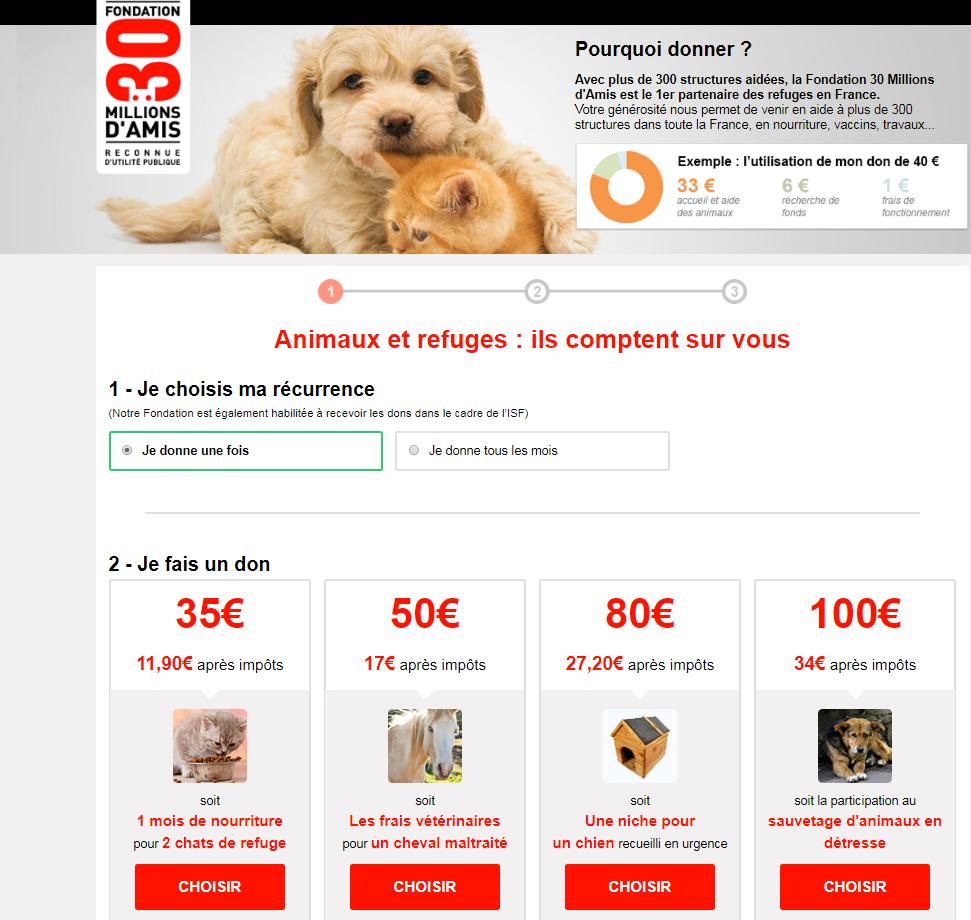cadeaux noël chien don 30 millions d'amis